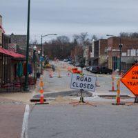 Construction blocks downtown business