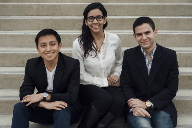 (From left to right) Walter Medrano, Andrea Rodriguez and Alex Paniagua