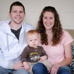 Griffin and Lauren Brady are pictured with their son Heaton. The Brady's were married in 2013.