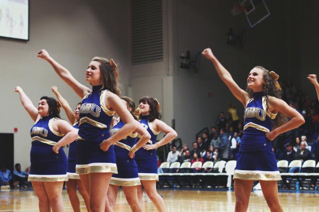 Cheerleading boosts team morale