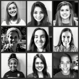 JBU women's soccer team welcomes Annika Bos, Anna Brown, Melody Hagen, Kristen Howell, Aspen Robinson, Kathryn Huff, Anne Metz, Tainara De Lima Oliveira and Jastin Redman. This has been the largest class of recruits the program has seen.