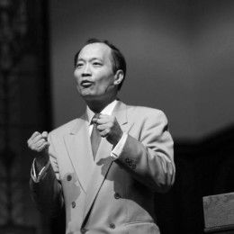 Doctor Ming Wang speaks at chapel on Thursday, Jan. 29, sharing his accomplishments in the medical field.