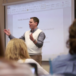 Ogle, through the course of his career at JBU, has taught hundreds of students in classes such as Family Sexuality, Critical Concerns with Adolescents and Marriage and Family Living.