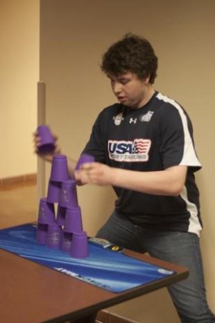 Record breaking stacker refines skill