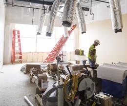 Nursing building progresses ahead of schedule