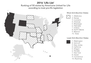 Arkansas ranked No. 4 on anti-abortion list