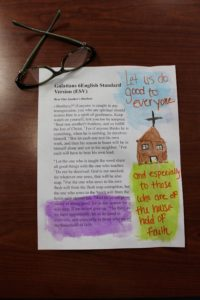 Eight steps to start Bible journaling