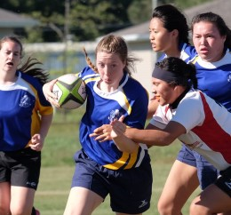 Women's rugby plays first home match