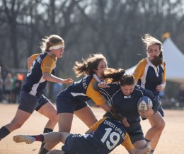 Women's rugby achieves first home win