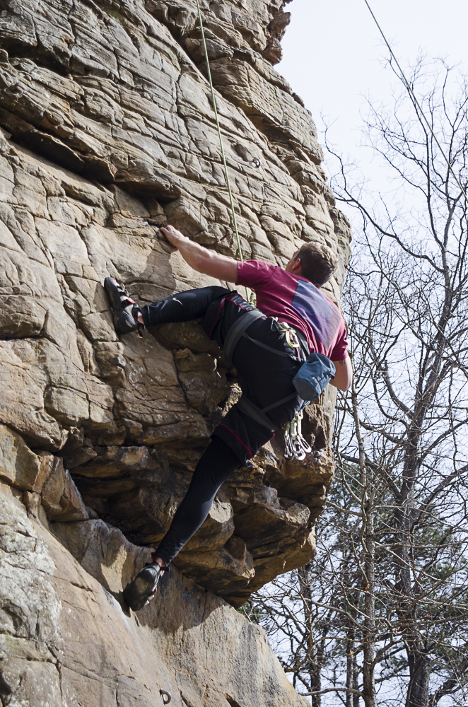 Climbing challenges students' fears