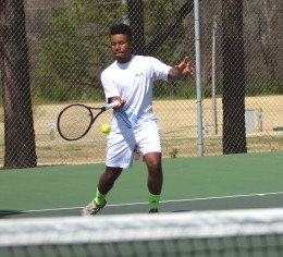 Tennis teams compete in final home game