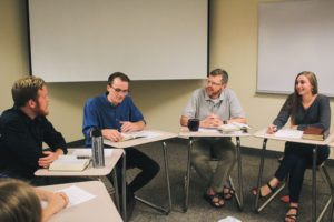 Professor engages students with Scripture