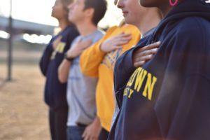University divided over ban on kneeling