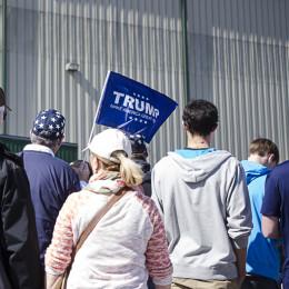 Trump flag promotes free speech
