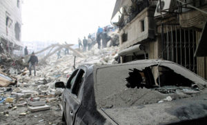 Syrians flee capital city of Aleppo