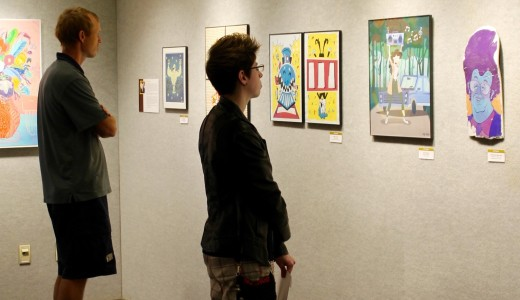 Alumni return to showcase mixed media art