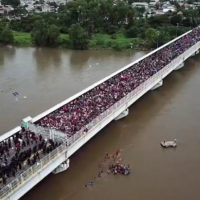 Caravan approaches U.S. border from Mexico