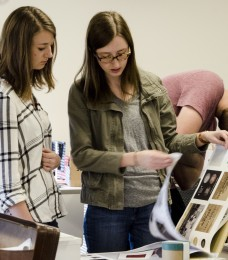 Art students showcase portfolio work