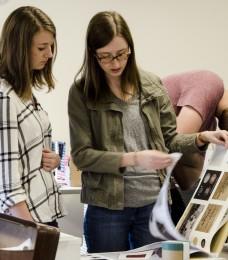 Art students showcase portfolio work